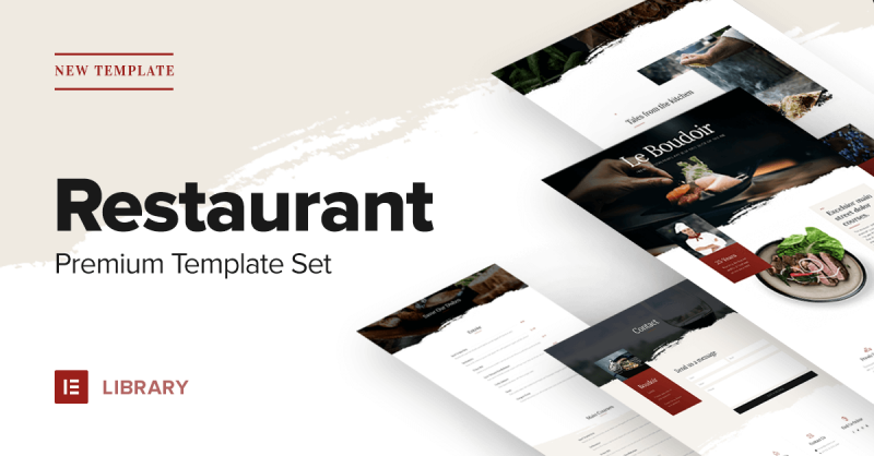 New Premium Restaurant Template Set – Start Getting Reservations!