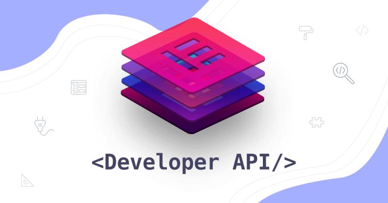 Introducing Elementor Developer API