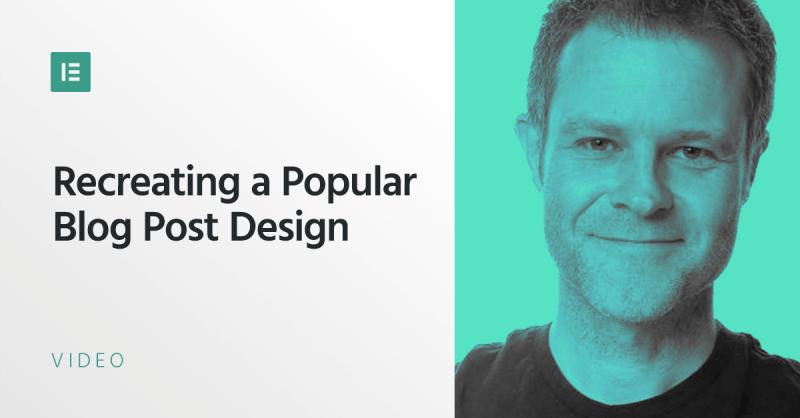 Recreating a Popular Blog Post Design