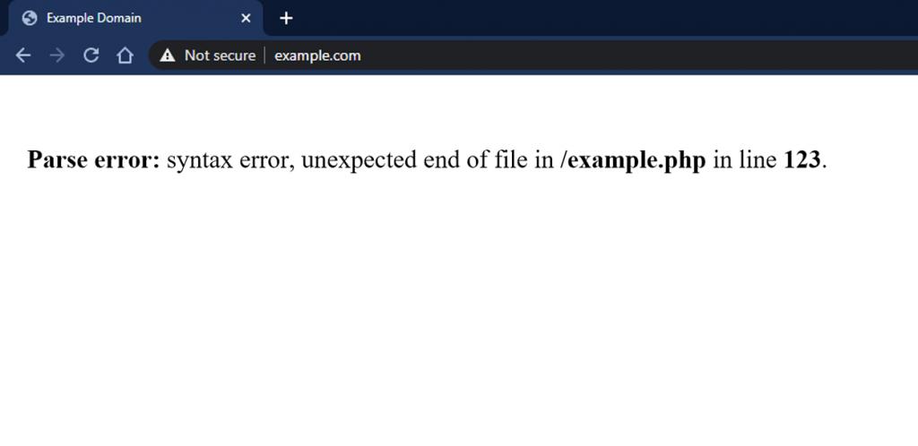Syntax Error