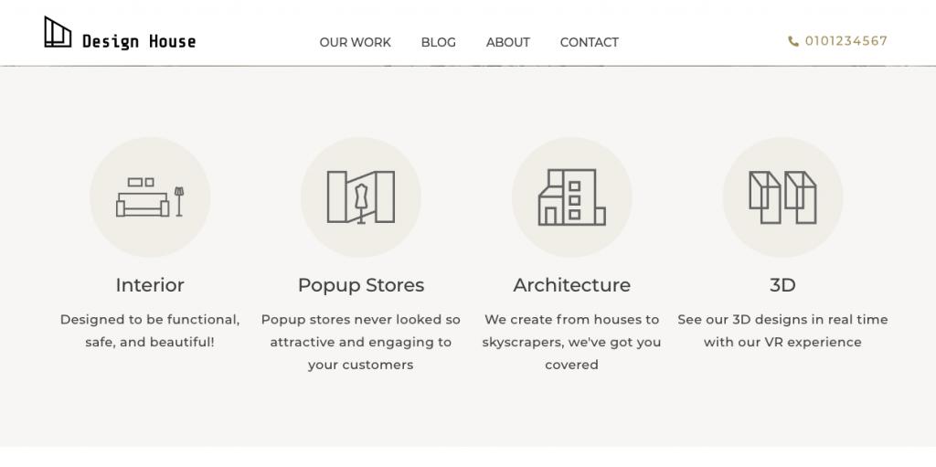design house icon boxes