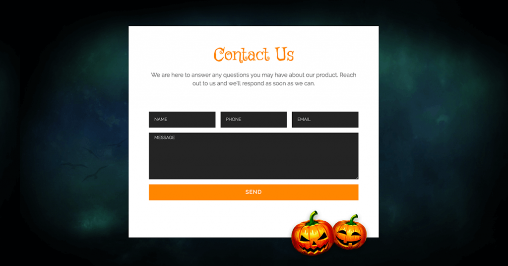 Halloween Contact Form Template