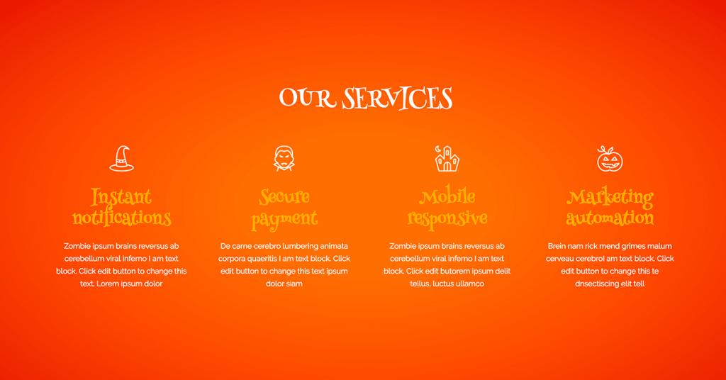 Halloween Services Design