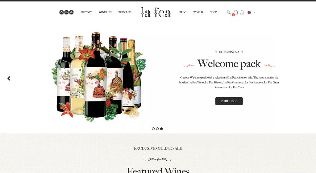 la fea winery elementor showcase