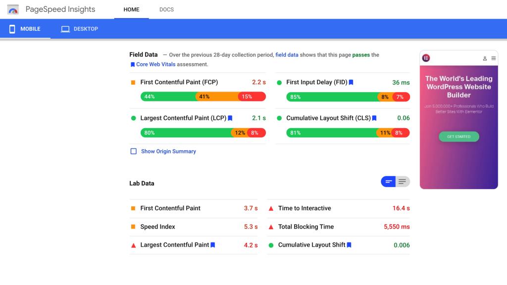 google-pagespeed-insights