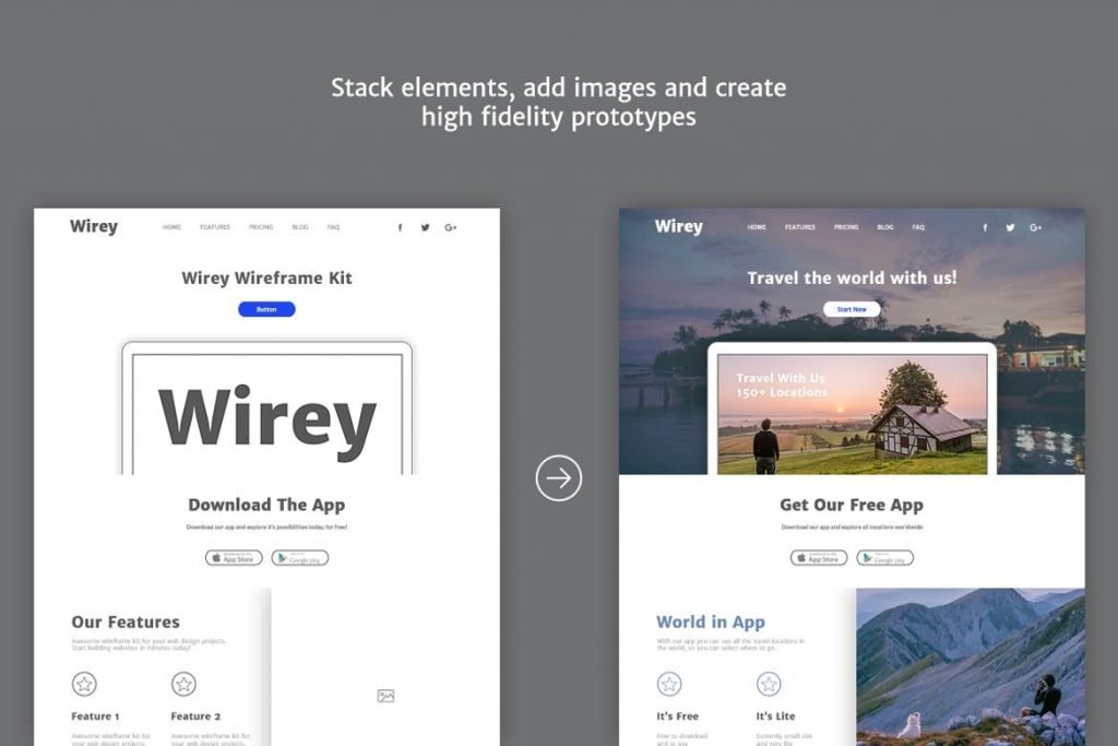 Website Wireframe Template