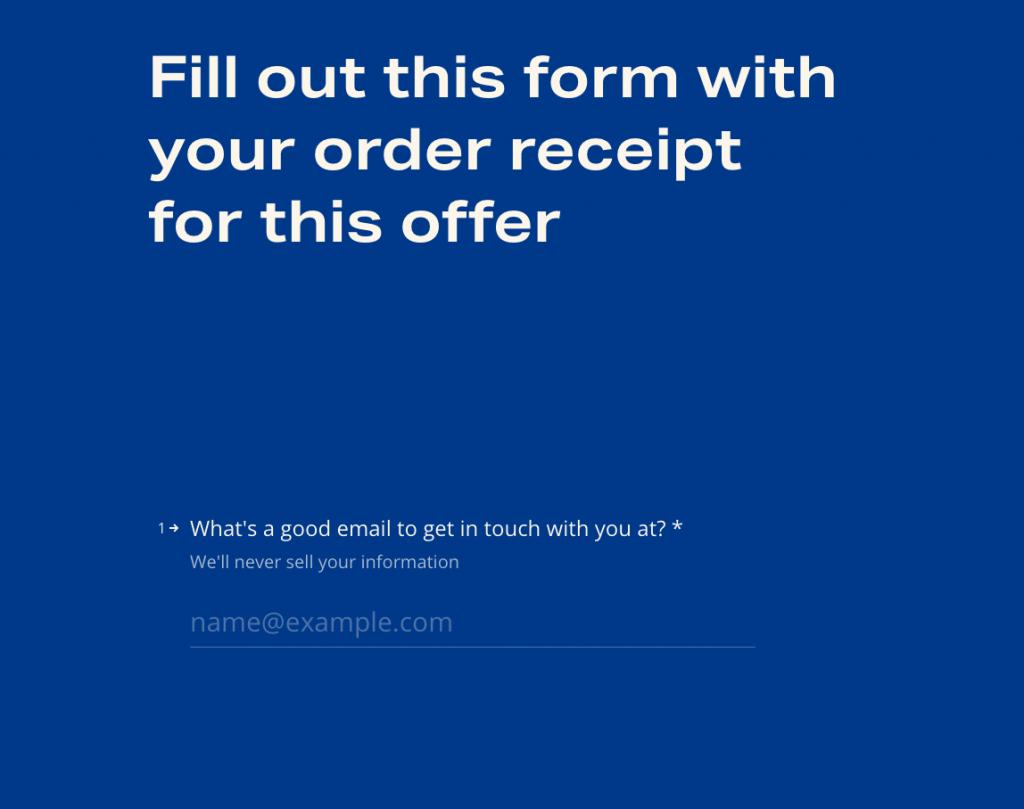 website forms multiple screens