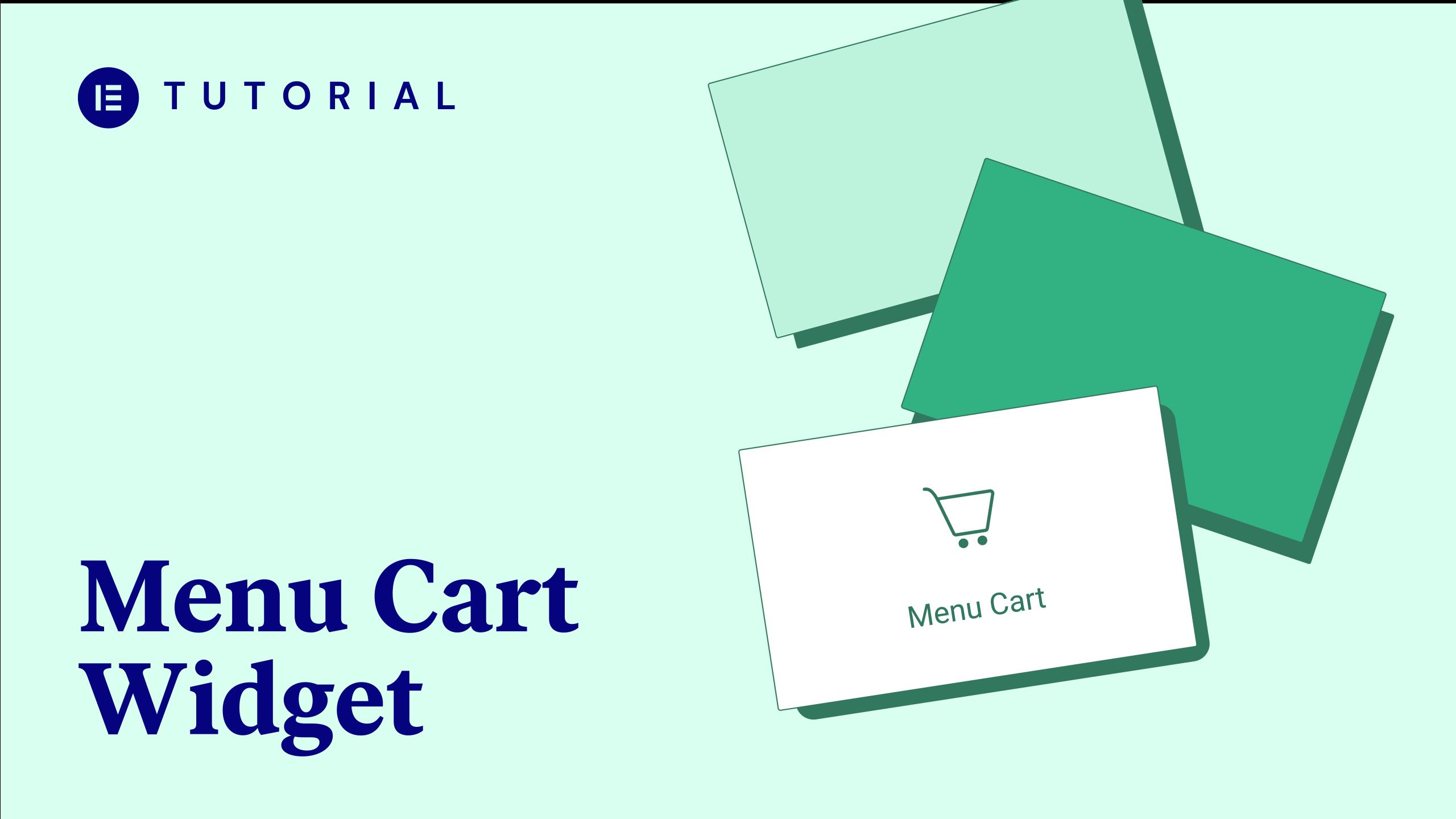 menu cart widget