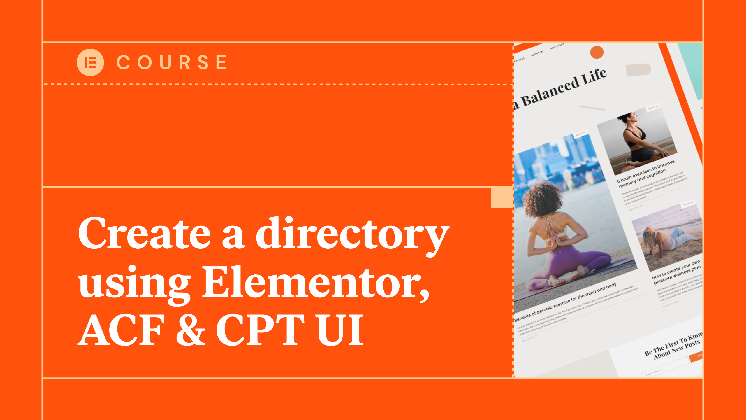 Create a directory using Elementor, ACF & CPT UI