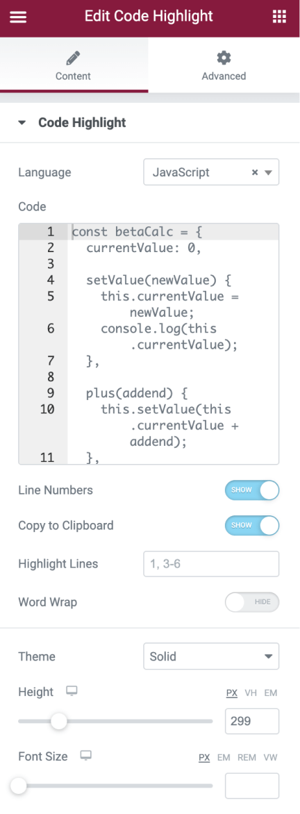 Code Highlight Editor