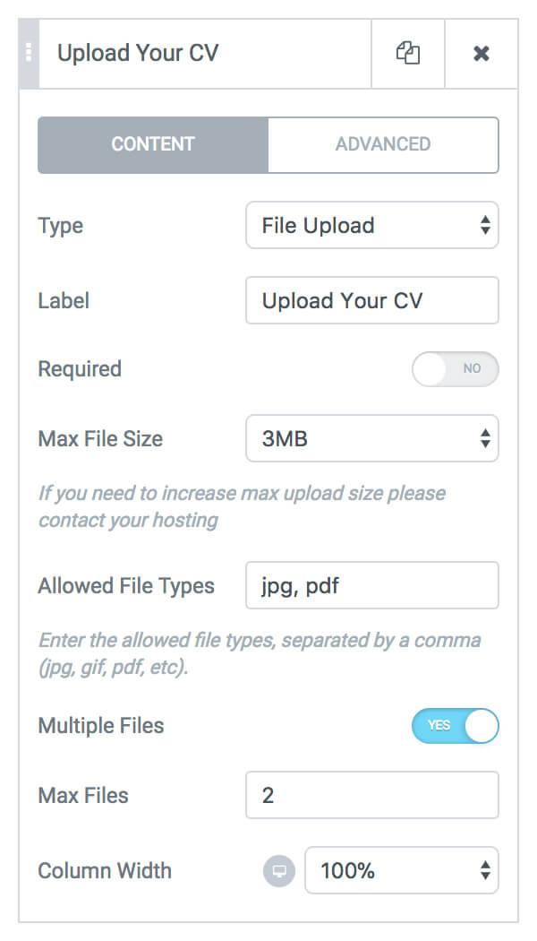 Form File Upload