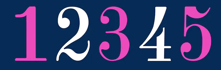 didoneroomnumbers-font
