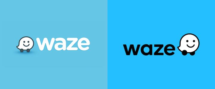 waze logo rebranding