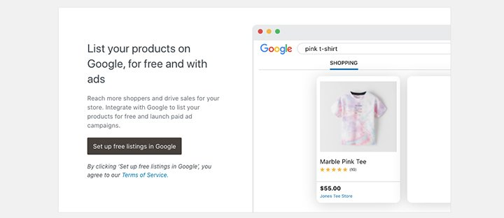 Listing products in Google Merchant Center