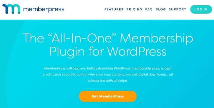 MemberPress' homepage