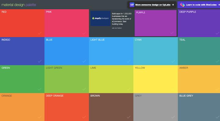 material-design-color-palette-generator