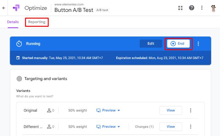 create-google-optimize-experience-8-running-experiment
