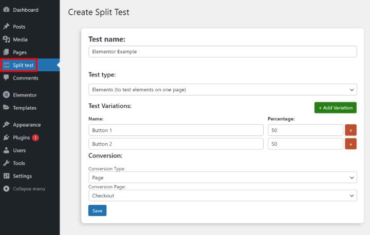split-test-elementor-2-enter-test-details