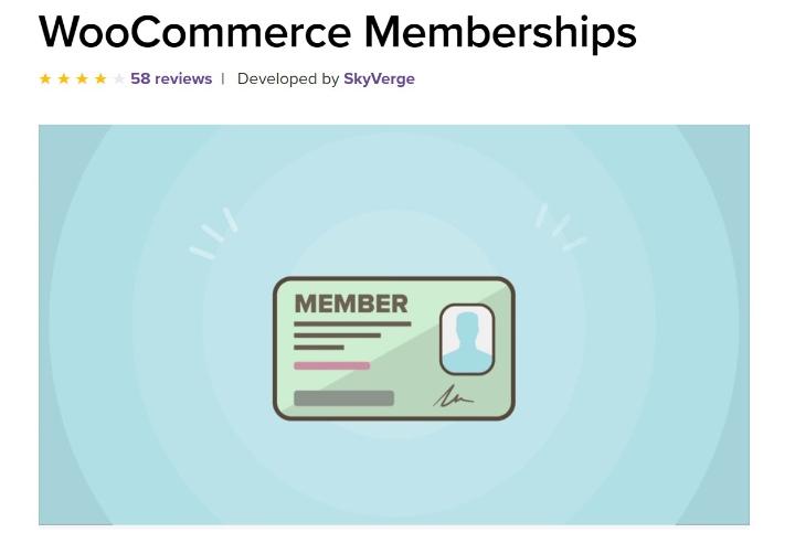 woocommerce memberships' homepage
