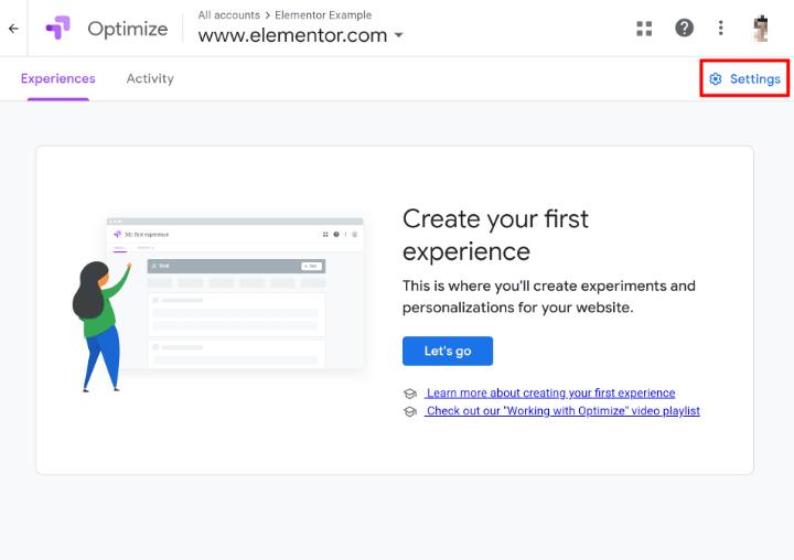 set-up-google-optimize-4-open-settings