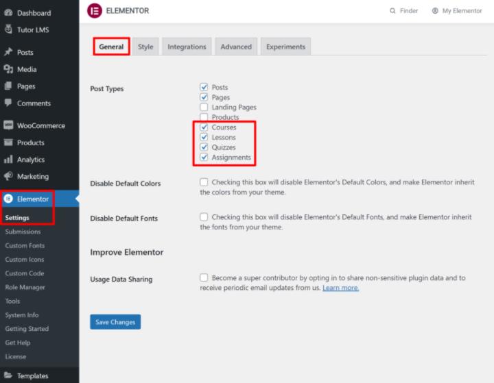 tutor-lms-tutorial-10-enable-elementor