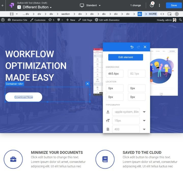 create-google-optimize-experience-5-visual-editor