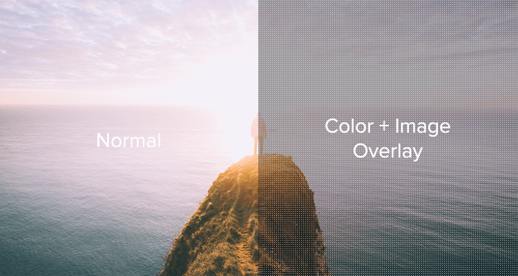 Color + Image Overlay