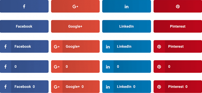 Design of Share Buttons
