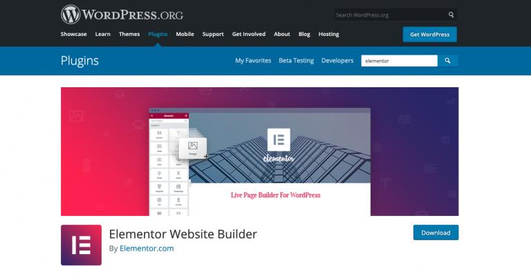 elementor plugin wordpress repo