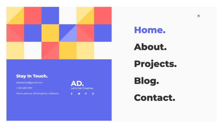 elementor design portfolio kit