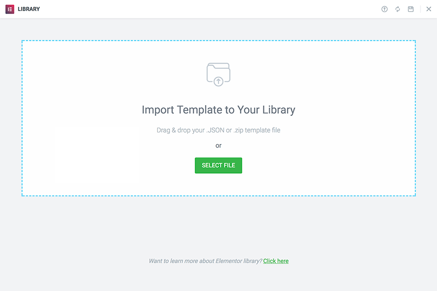 Library Import Templates