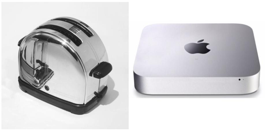 modern Minimalist design apple mac mini classic sunbeam toaster