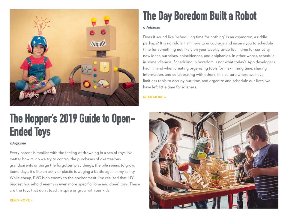Hoppers_Boulder_Blog_text_buttons_WordPress_elementor