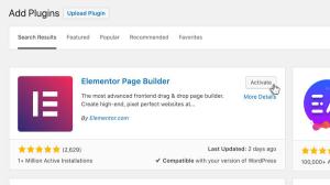 Add Elementor plugin to your WordPress Website