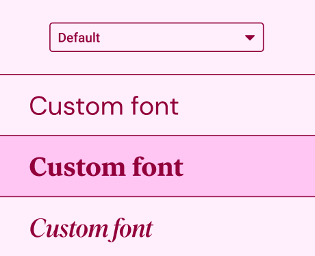 Use any font format with Custom Fonts