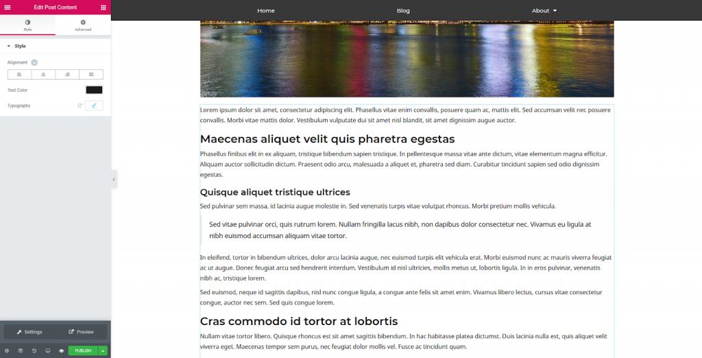 a screenshot of adding a content block