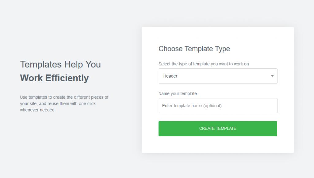 a screenshot of the adding a template window