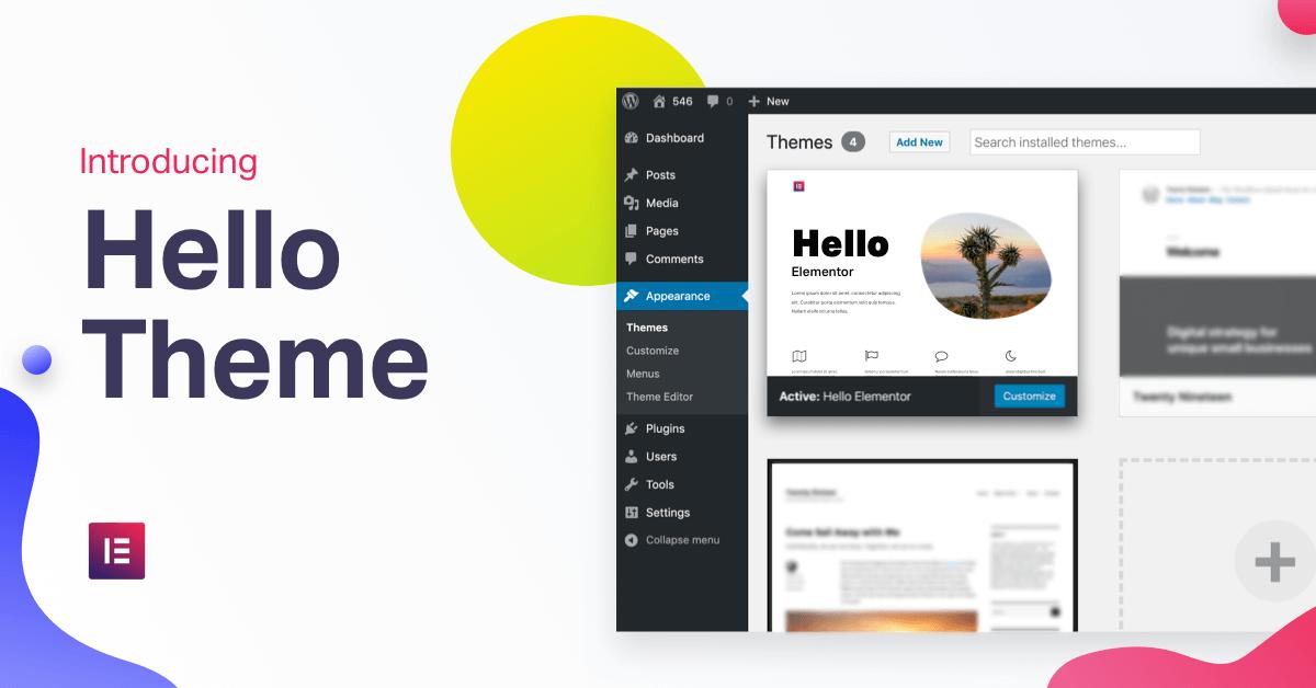 Hello Theme: The Fastest WordPress Theme | Elementor