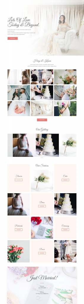 10. Wedding - Individual wedding organizer