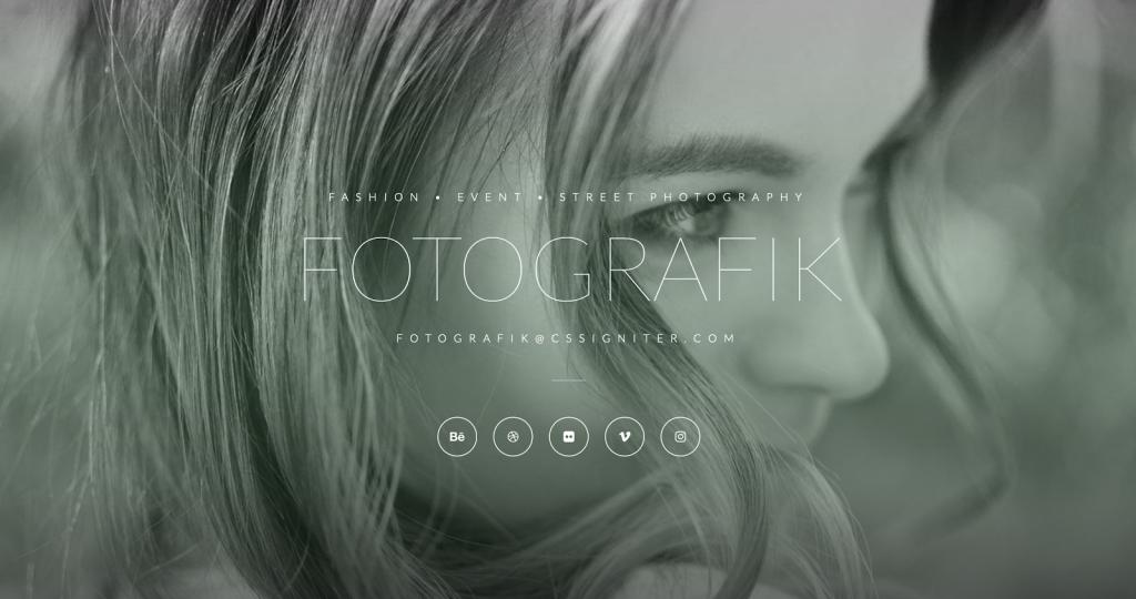 4. Fotographik Wedding Template (for Photographers)
