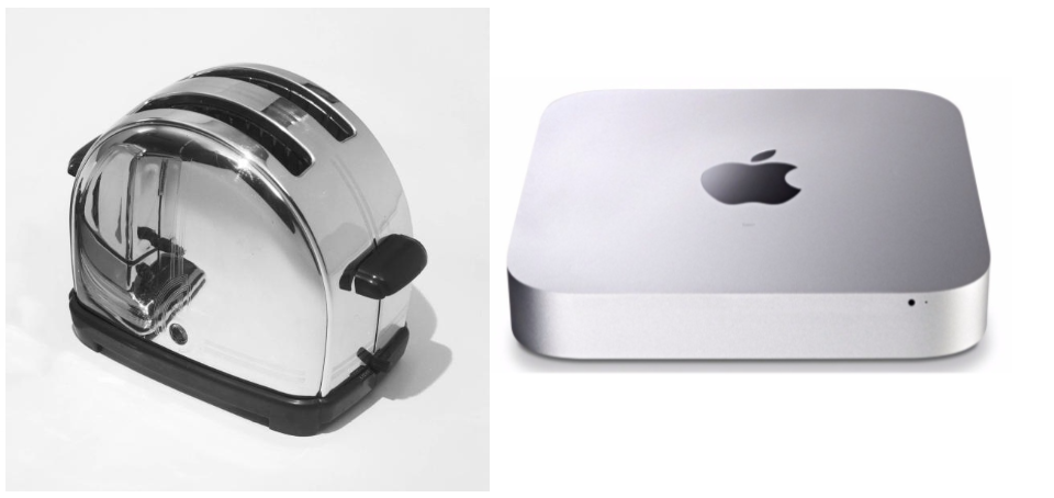 modern Minimalist design apple mac mini classic sunbeam toaster