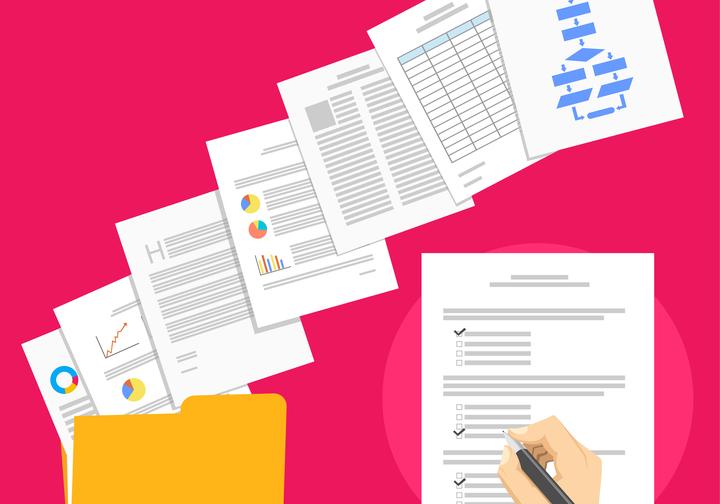 business paperwork image