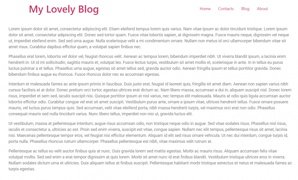 example of published text blog