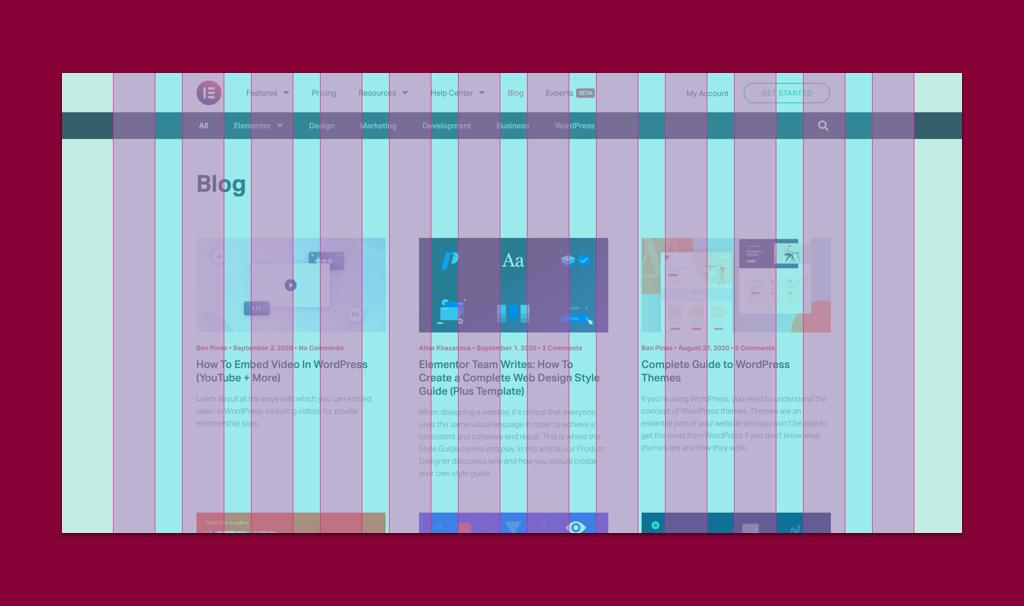 elementor blog layout