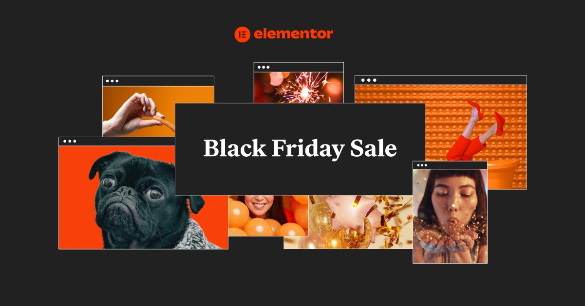 Elementor Black Friday cyber monday sale