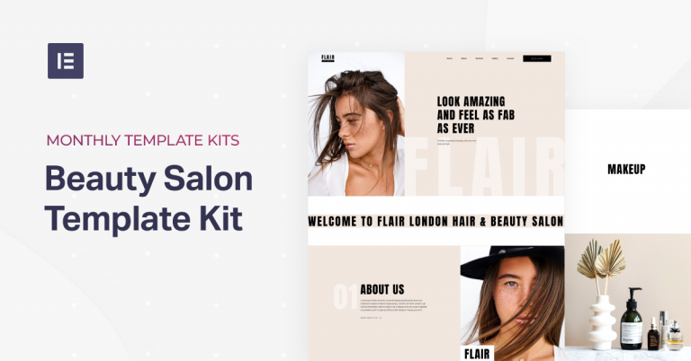 beauty salon template kit
