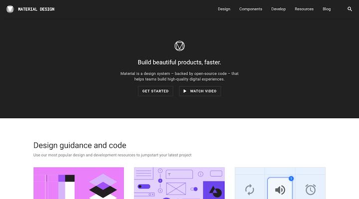 material-design-website
