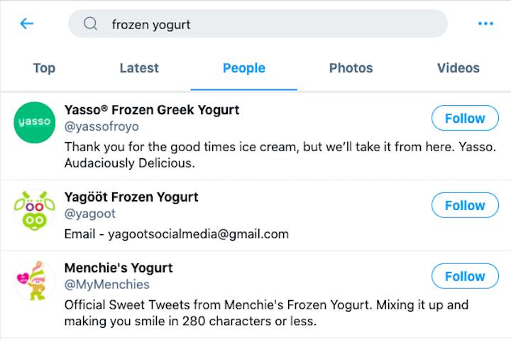 twitter arama dondurulmuş yoğurt