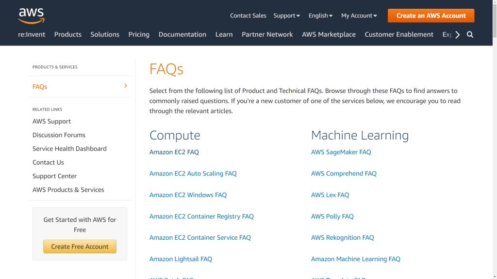 amazon-web-services-faq