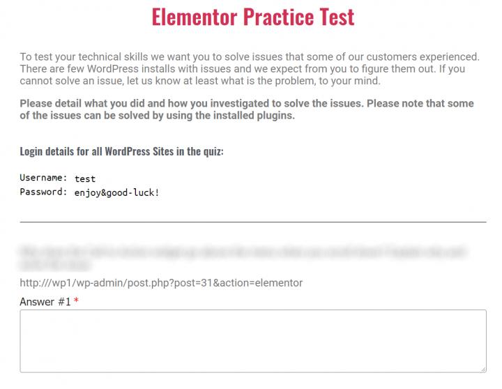 elementor-practice-test